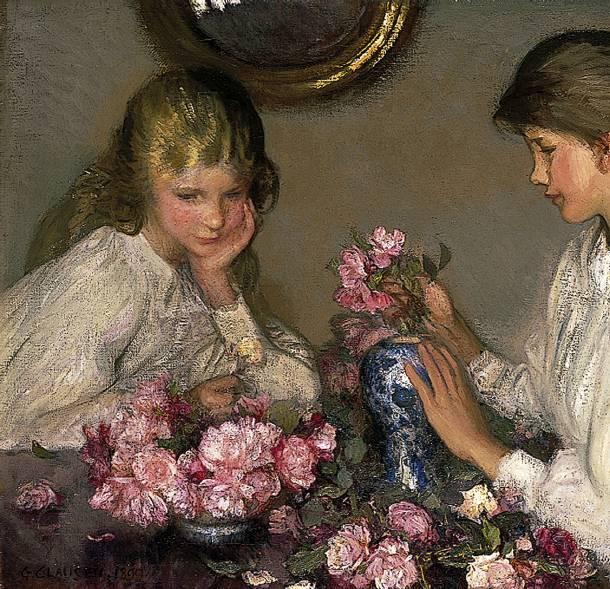 1 George-Clausen-Children-and-Roses