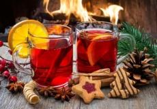 Рождественская ярмарка с вкусными лакомствами